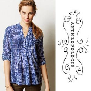 ANTHROPOLOGIE HD in Paris Kaveri Henley Blouse